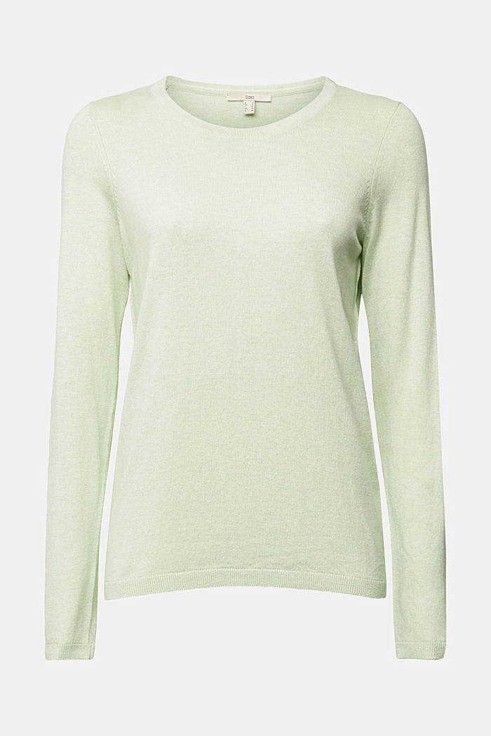Jumper with organic cotton, PASTEL GREEN, detail image number 5