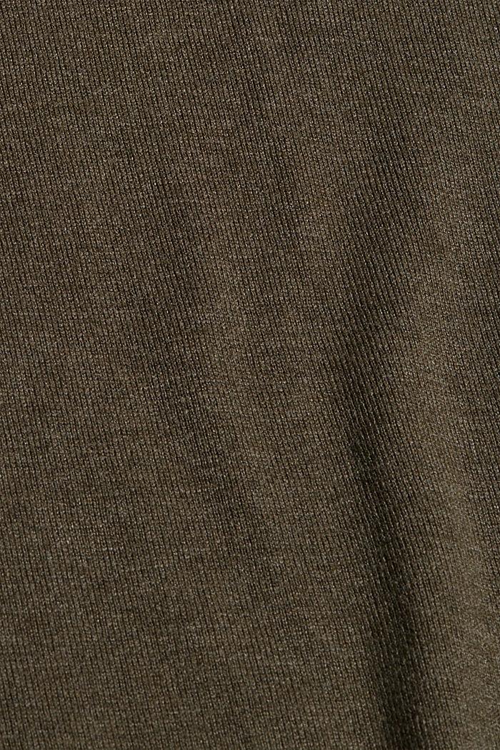 Jumper with organic cotton, DARK KHAKI, detail image number 4
