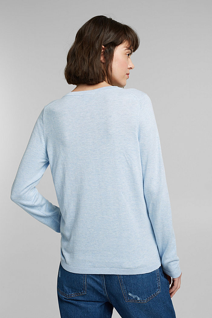 Jumper with organic cotton, LIGHT BLUE LAVENDER, detail image number 3