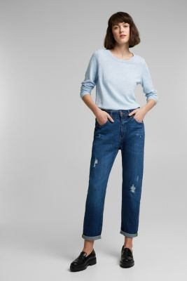 Jumper with organic cotton, LIGHT BLUE LAVENDER, detail