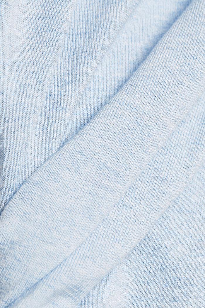 Jumper with organic cotton, LIGHT BLUE LAVENDER, detail image number 4