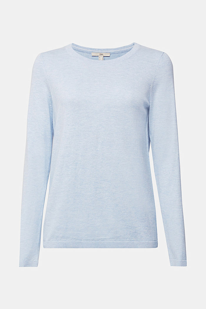 Jumper with organic cotton, LIGHT BLUE LAVENDER, detail image number 6
