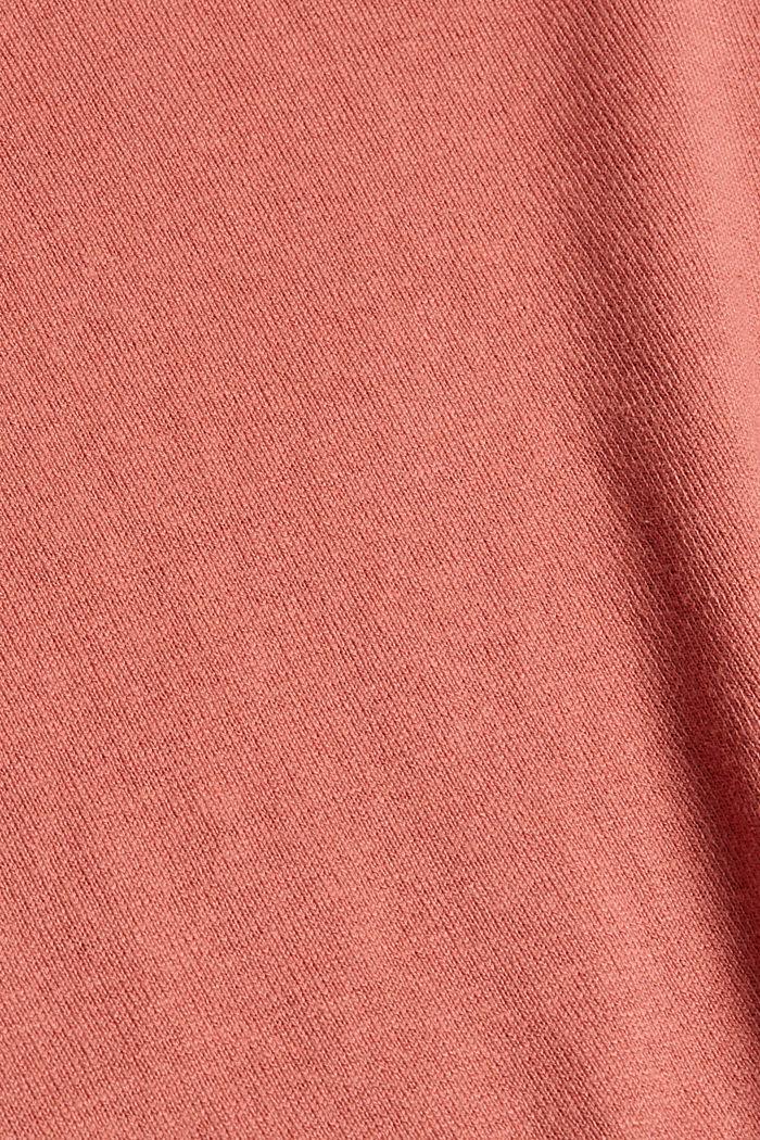 Trui met organic cotton, CORAL, detail image number 4
