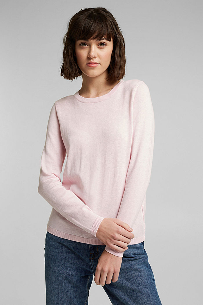 Jumper with organic cotton, LIGHT PINK, detail image number 0