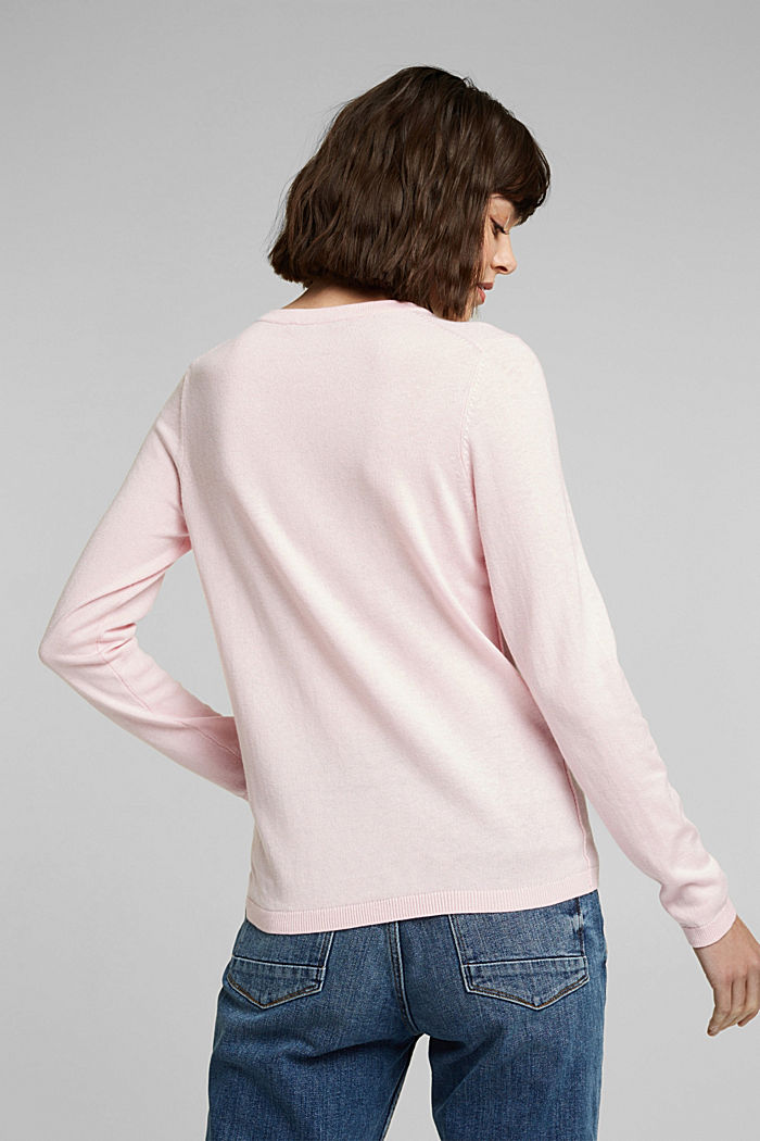 Jumper with organic cotton, LIGHT PINK, detail image number 3