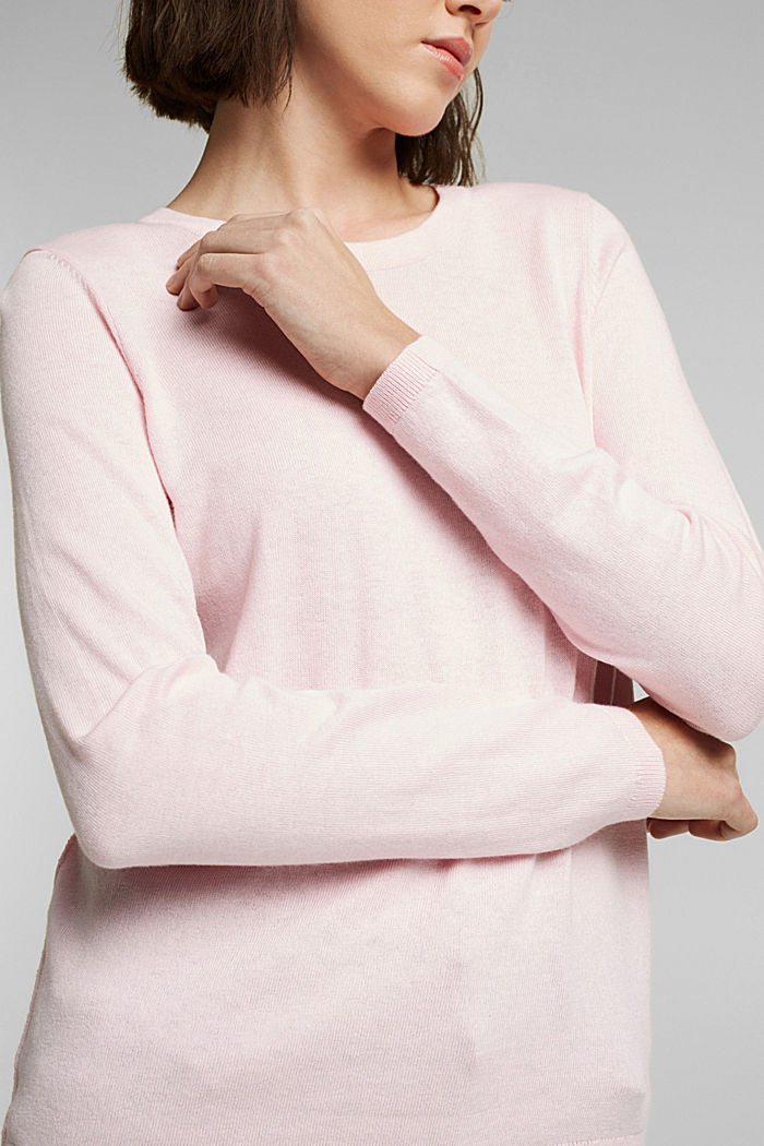 Jumper with organic cotton, LIGHT PINK, detail image number 2