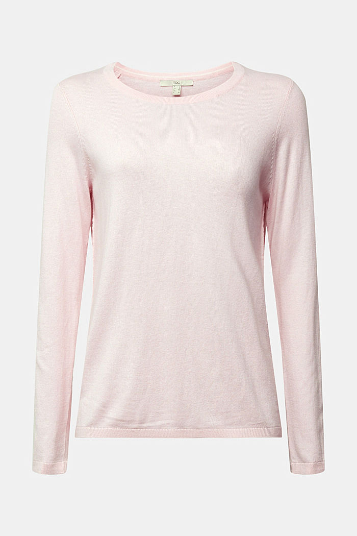 Jumper with organic cotton, LIGHT PINK, detail image number 6