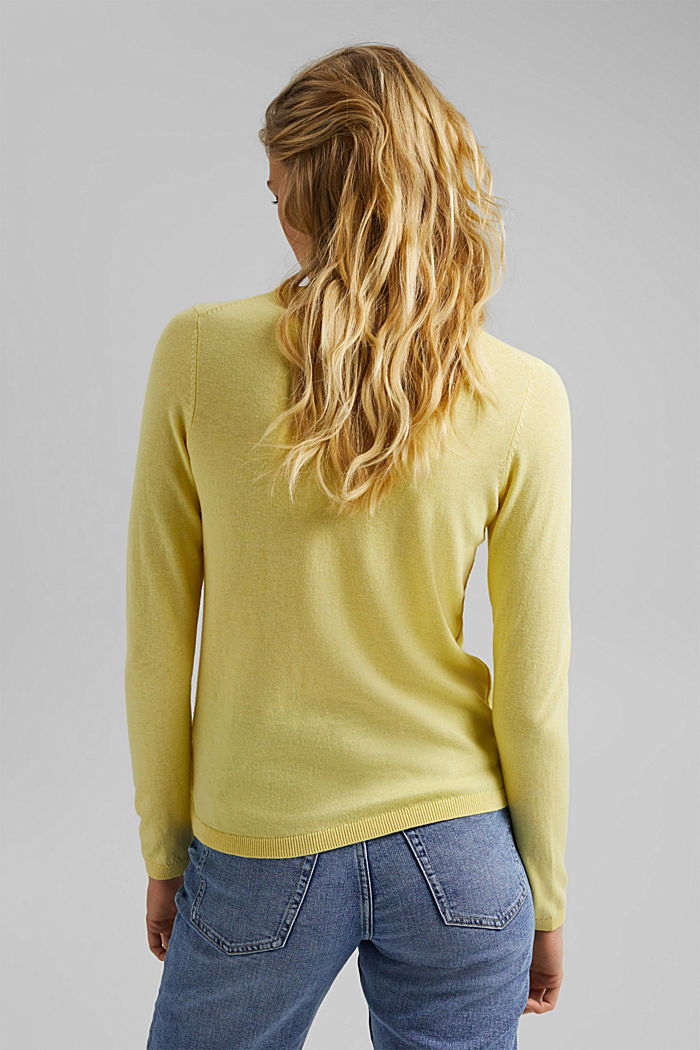 Jumper with organic cotton, LIGHT YELLOW, detail image number 3