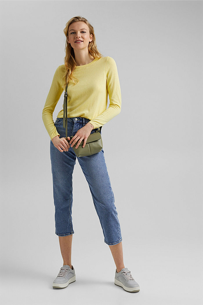 Jumper with organic cotton, LIGHT YELLOW, detail image number 1