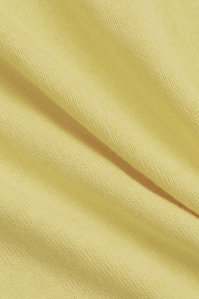 Jumper with organic cotton, LIGHT YELLOW, detail image number 4