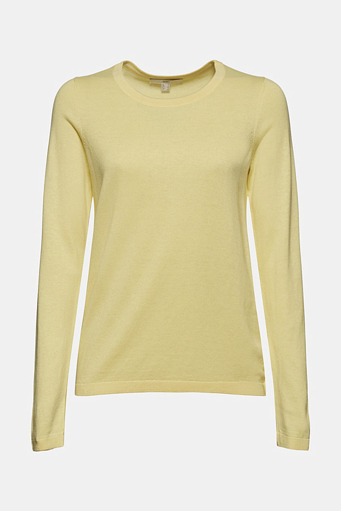 Jumper with organic cotton, LIGHT YELLOW, detail image number 6