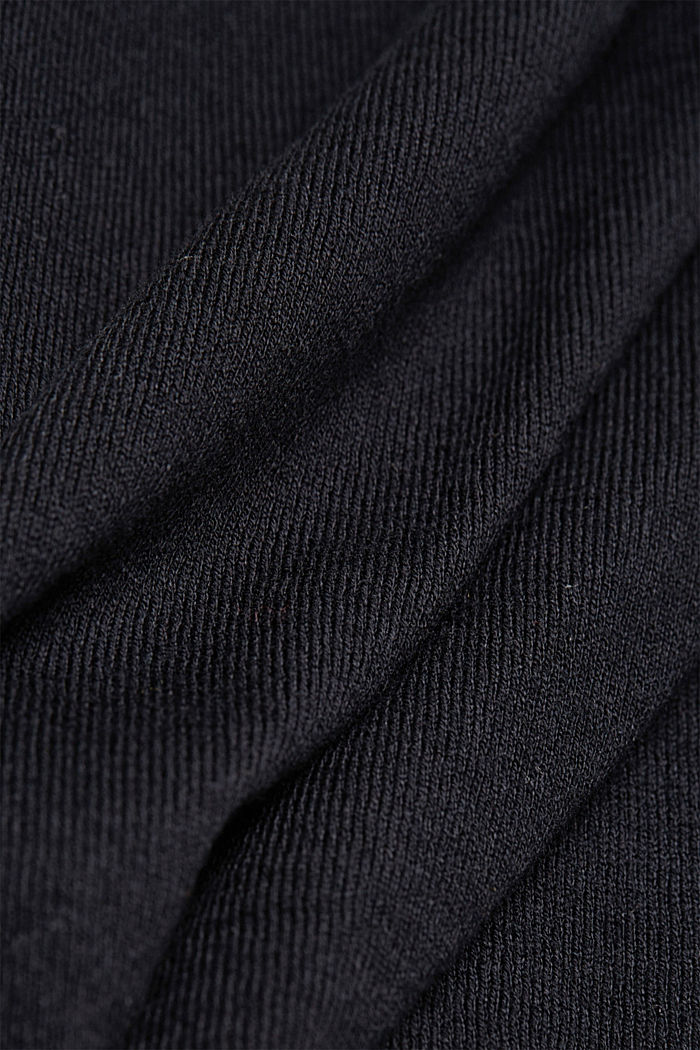V-neck jumper containing organic cotton, BLACK, detail image number 4