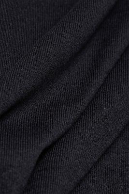 V-neck jumper containing organic cotton, BLACK, detail