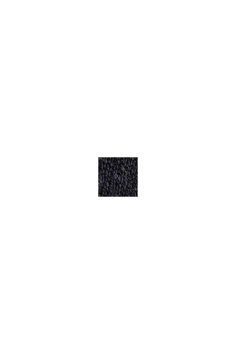 V-neck jumper containing organic cotton, BLACK, swatch