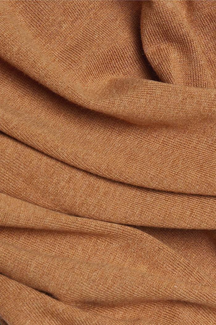 V-Neck-Pullover mit Organic Cotton, CARAMEL, detail image number 4