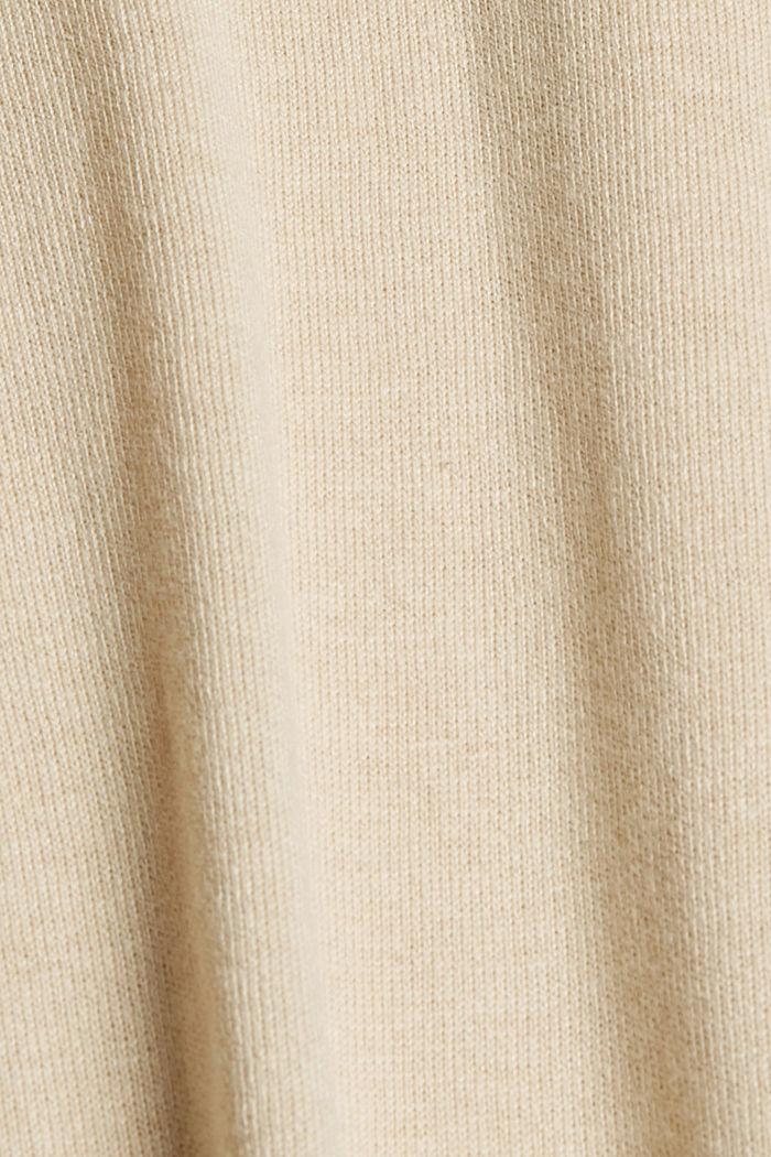 V-Neck-Pullover mit Organic Cotton, BEIGE, detail image number 4