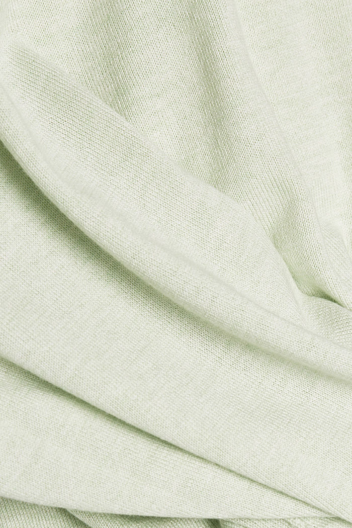 V-neck jumper containing organic cotton, PASTEL GREEN, detail image number 4