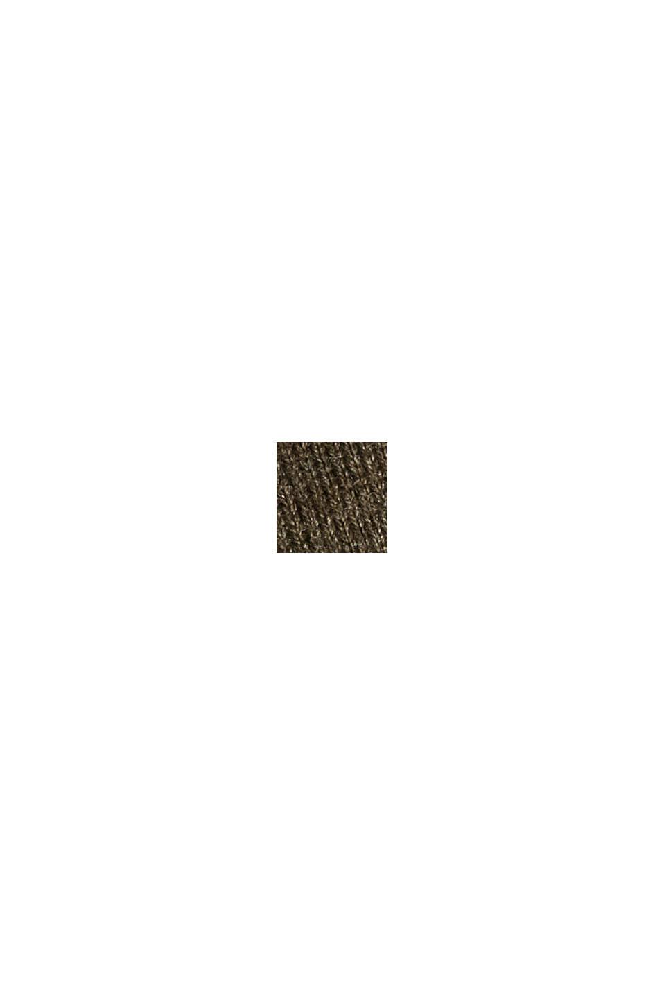 V-neck jumper containing organic cotton, DARK KHAKI, swatch