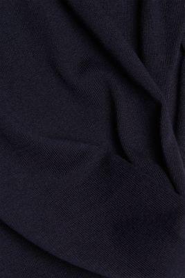 V-neck jumper containing organic cotton, NAVY, detail