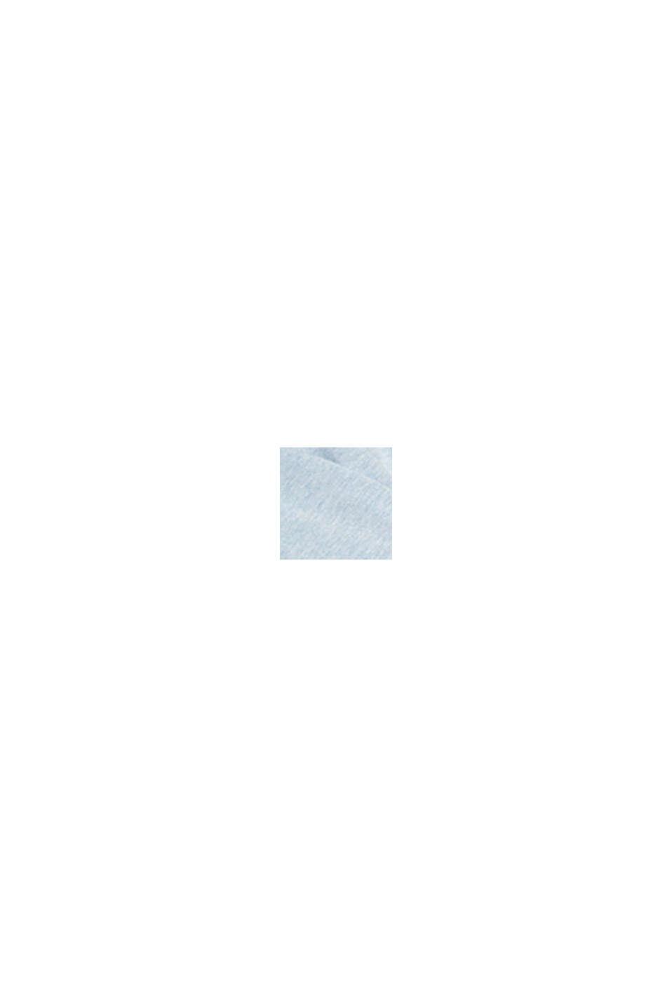 Pulovr se špičatým výstřihem, z bio bavlny, LIGHT BLUE LAVENDER, swatch