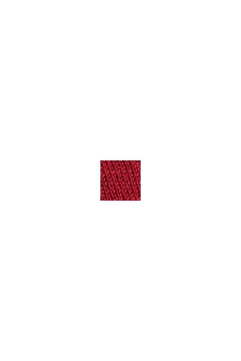 V-Neck-Pullover mit Organic Cotton, DARK RED, swatch