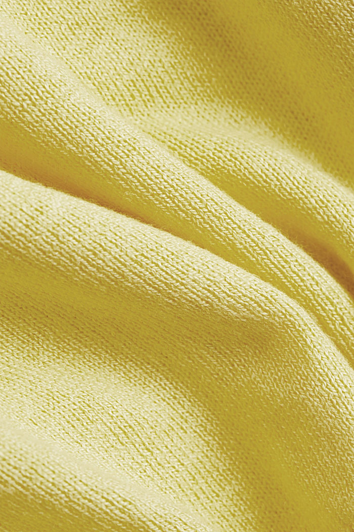 V-neck jumper containing organic cotton, LIGHT YELLOW, detail image number 4