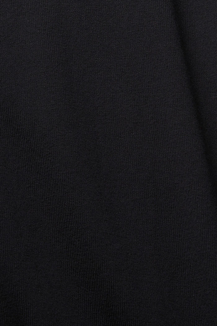 Basic cardigan with organic cotton, BLACK, detail image number 4