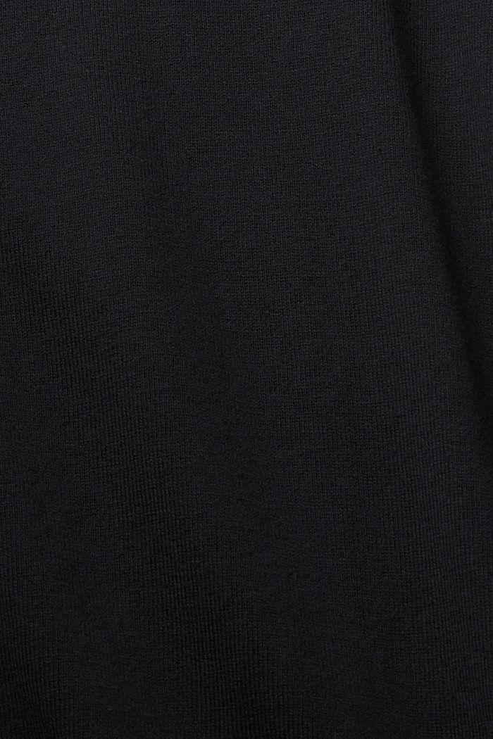 Cárdigan básico con algodón ecológico, BLACK, detail image number 4