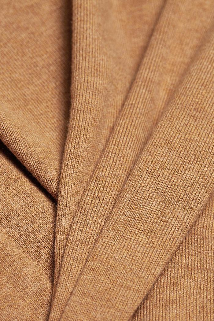 Cárdigan básico con algodón ecológico, CARAMEL, detail image number 4