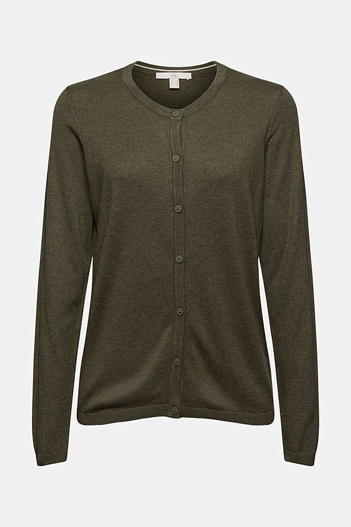 Basic cardigan with organic cotton