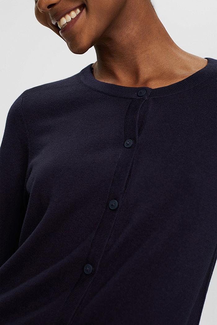 Kardigan z linii basic z bawełną ekologiczną, NAVY, detail image number 2