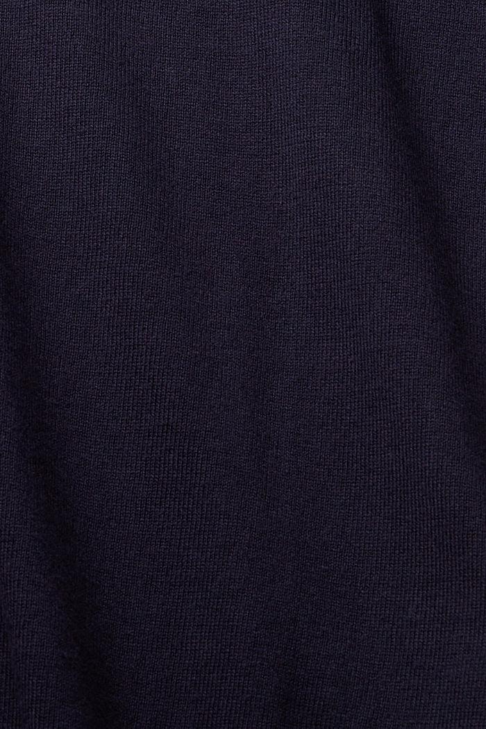 Kardigan z linii basic z bawełną ekologiczną, NAVY, detail image number 4