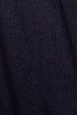 Basic cardigan with organic cotton, NAVY, detail