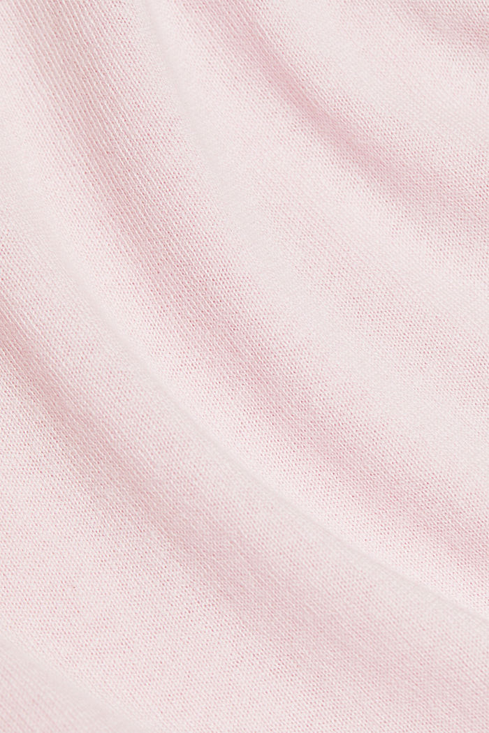 Basic cardigan with organic cotton, LIGHT PINK, detail image number 4