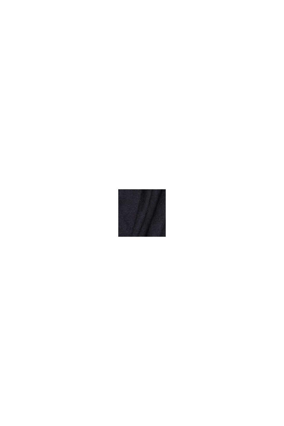 V-ringad baskofta med ekobomull, BLACK, swatch