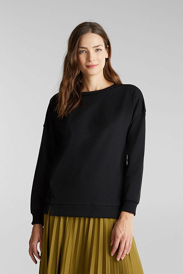 Bluza z bawełną organiczną, BLACK, detail image number 0