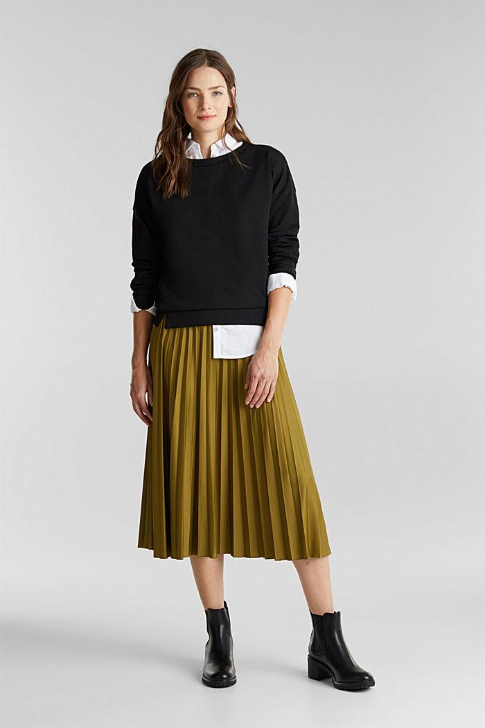 Organic cotton sweatshirt, BLACK, detail image number 1