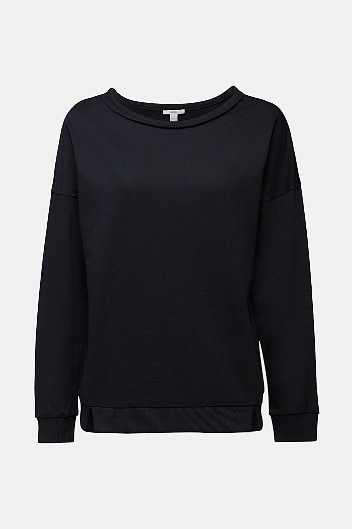Organic cotton sweatshirt, BLACK, detail image number 5