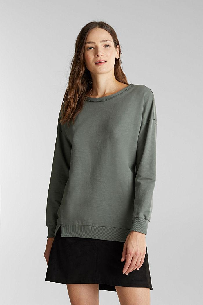 Sweatshirt med økologisk bomuld