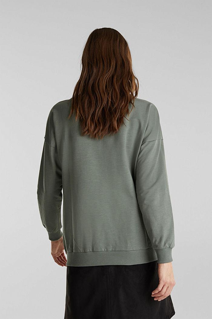Sweat-shirt à teneur en coton biologique, KHAKI GREEN, detail image number 3