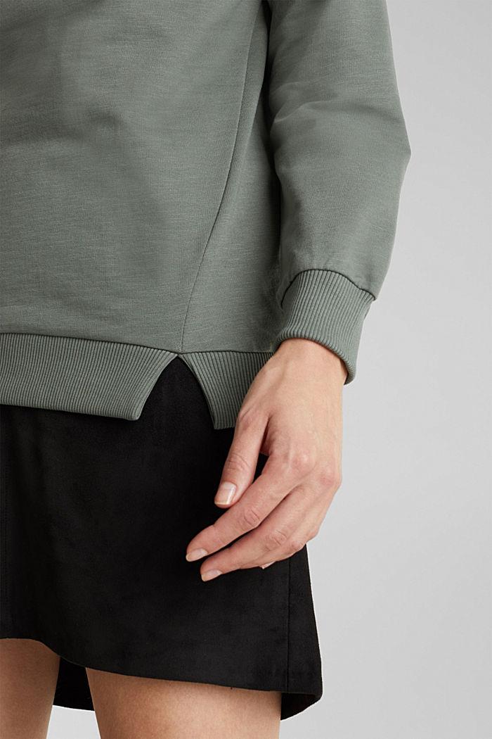 Sweat-shirt à teneur en coton biologique, KHAKI GREEN, detail image number 2