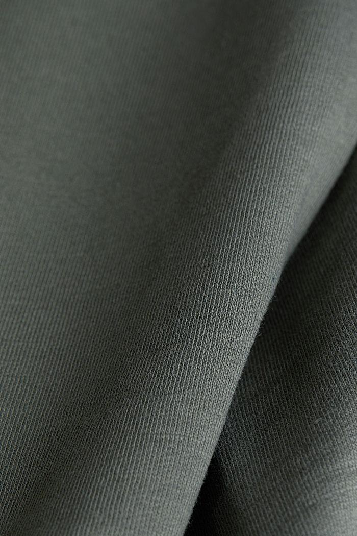 Sweat-shirt à teneur en coton biologique, KHAKI GREEN, detail image number 4