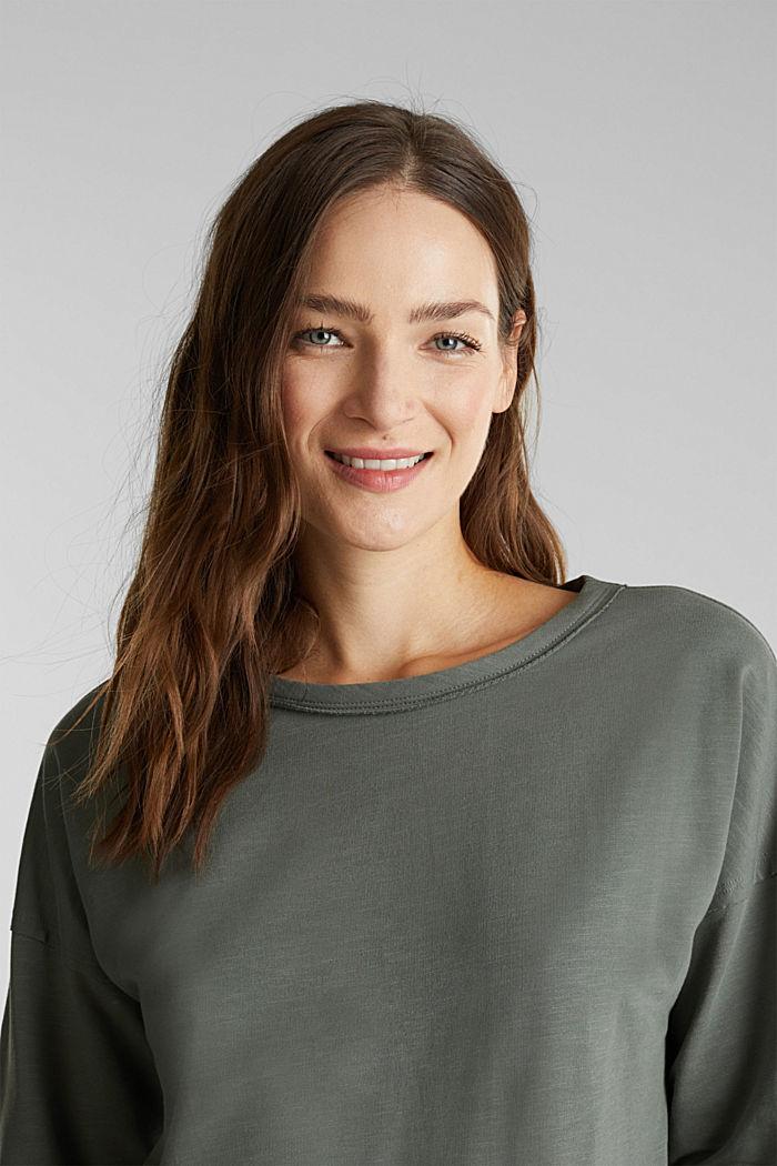 Sweat-shirt à teneur en coton biologique, KHAKI GREEN, detail image number 5