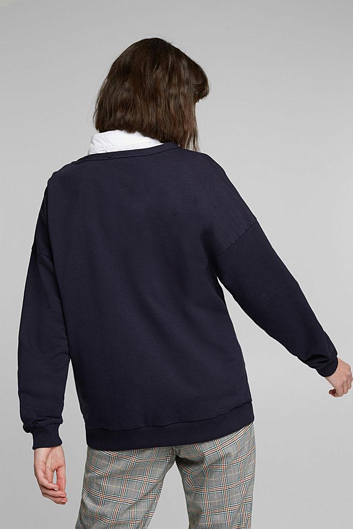 Sweatshirt met organic cotton, NAVY, detail image number 3