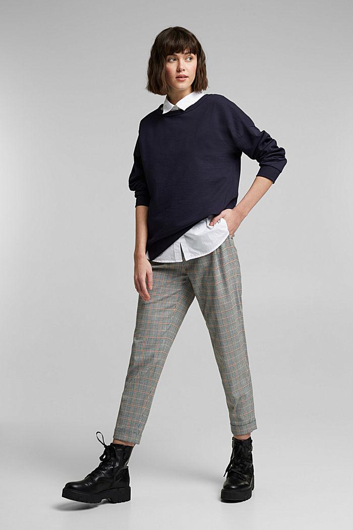 Sweatshirt met organic cotton, NAVY, detail image number 1