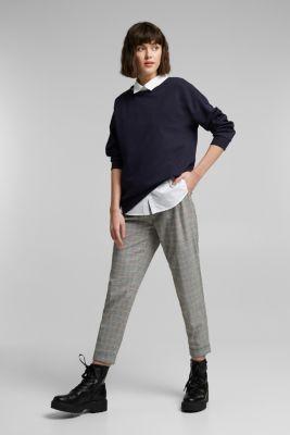 Organic cotton sweatshirt, NAVY, detail