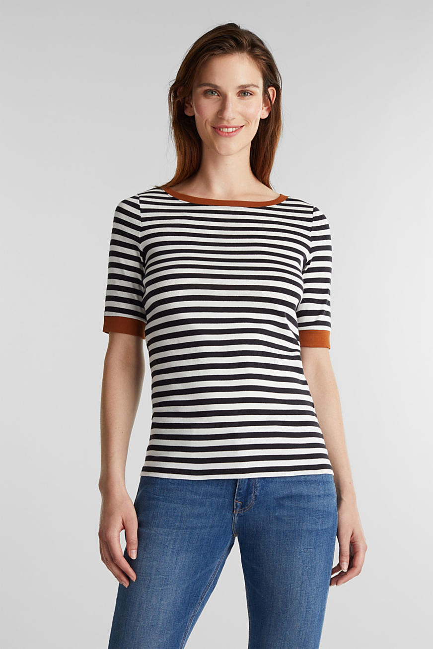 Ribbed T-shirt, 100% cotton