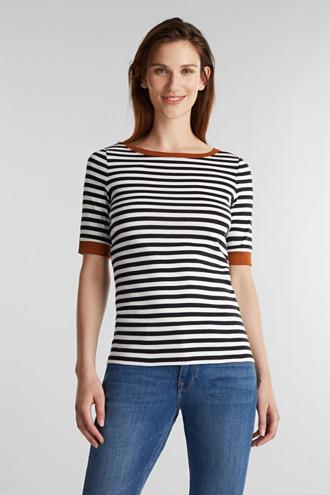 Ribbed T-shirt, 100% cotton