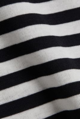 Ribbed T-shirt, 100% cotton, BLACK, detail
