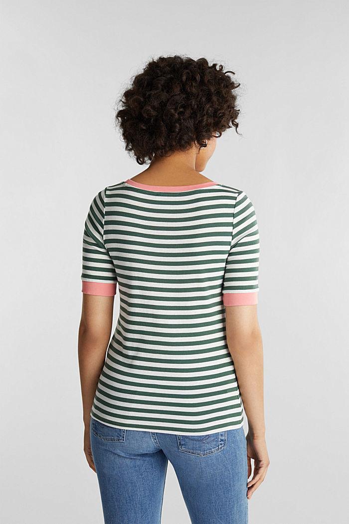 Joustin-t-paita 100 % puuvillaa, KHAKI GREEN, detail image number 3